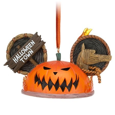 Disney Ear Hat Ornament - Pumpkin King - Halloween Town