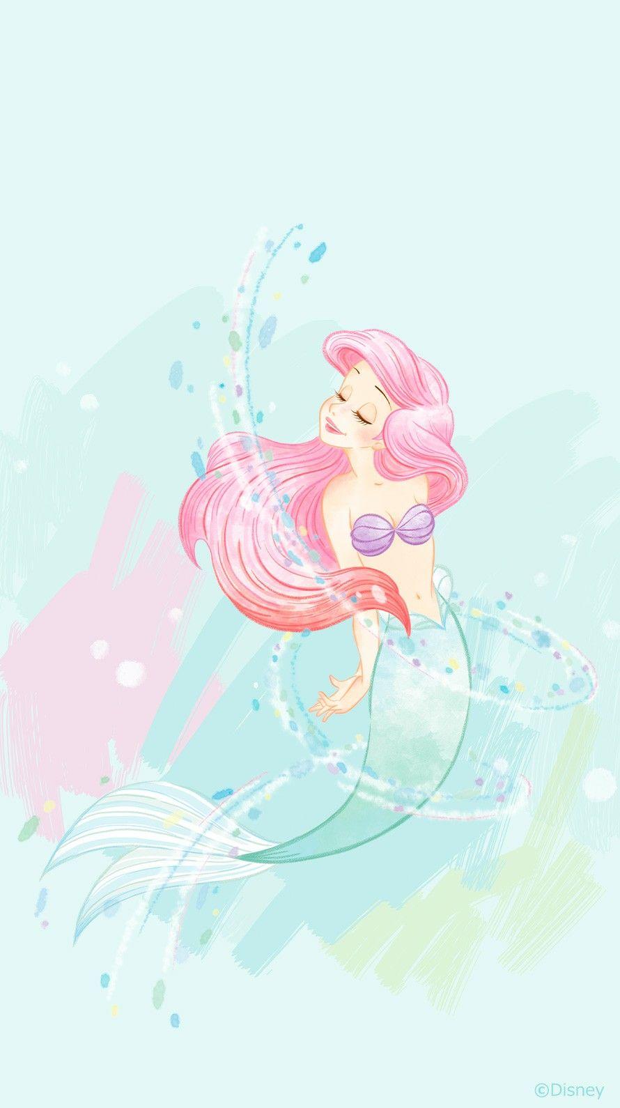 アリエル 背景 In Disney Princess Wallpaper Disney Drawings Cute Disney Wallpaper