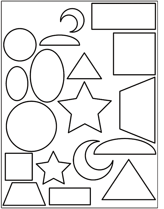 Shapes Coloring Pages | Downloads, Printables - Objects, Emphemera ...