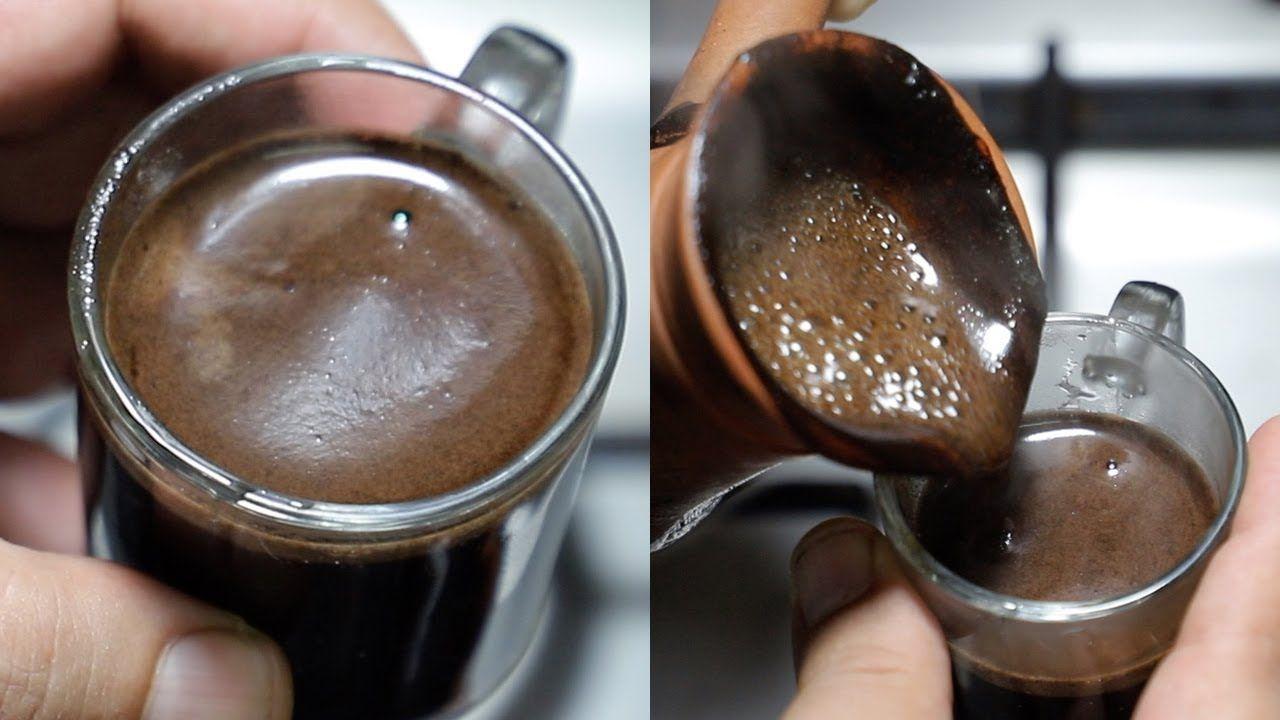 طريقة عمل القهوة المظبوطة بوش سميك بنفس طعم قهوة الكافيهات بالظبط Coffee Youtube Glassware Tableware Kitchen