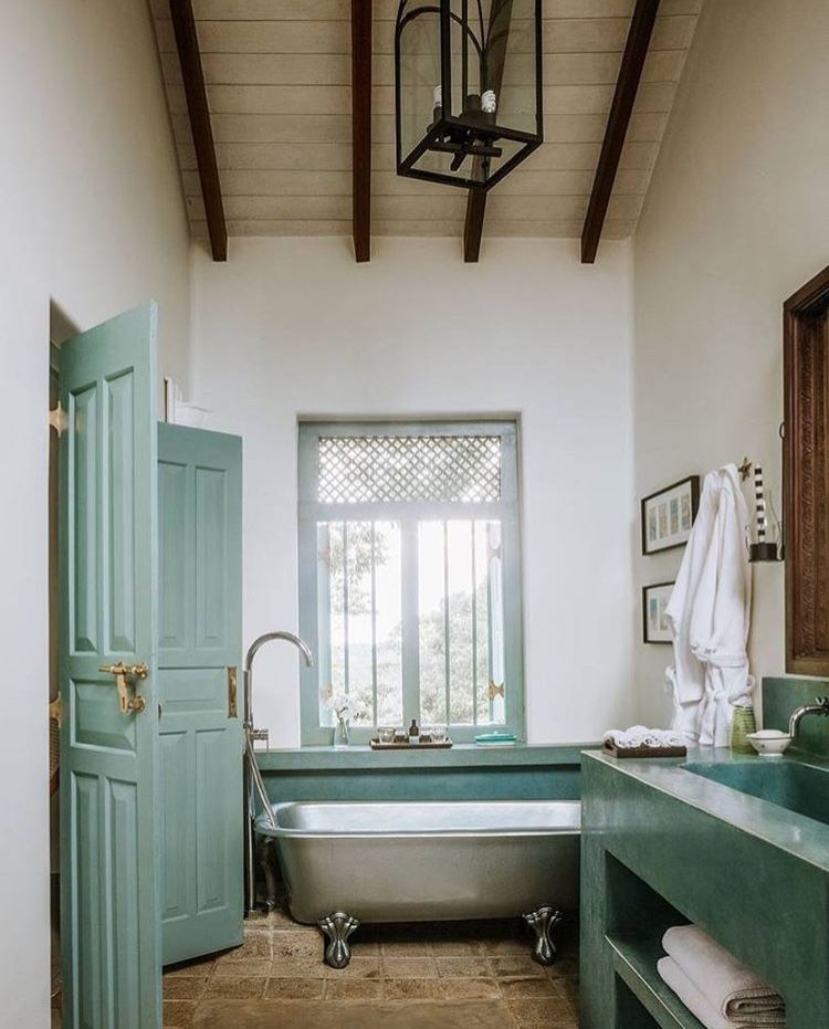 Pin By Designs By Katrina On Baths I Have A Thing For Bathtubs Bathroom Decor Colors Green Bathroom Kitchen Tiles Design Small bathroom bathroom designs sri