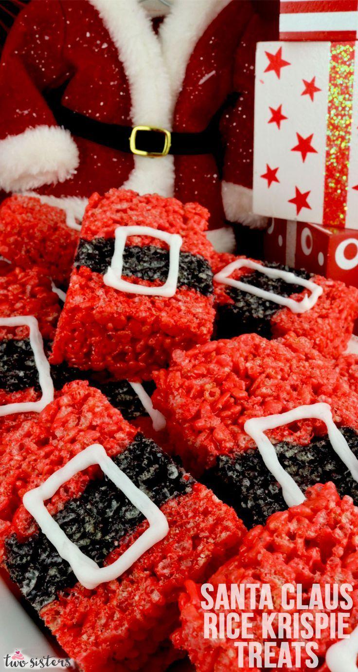 Santa Claus Rice Krispie Treats #homemadechristmasgifts