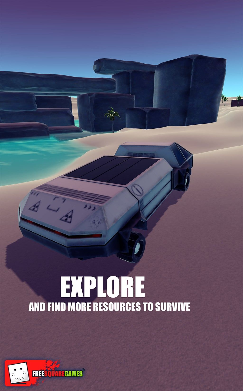 Open world sandbox game with digging, crafting, building