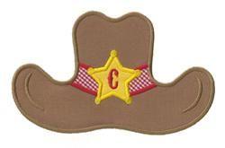 Cowboy hat applique design felt