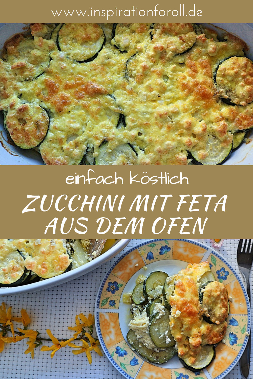 Photo of Baked zucchini – delicious recipe for zucchini slices with feta