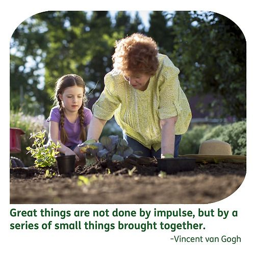 """""""Great things are not done by impulse, but by a series of small things brought together."""" - Vincent van Gogh"""