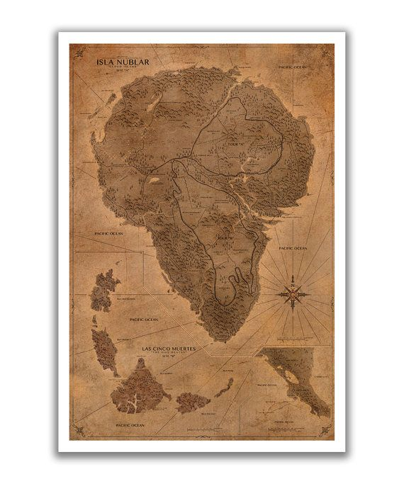 Jurassic park map poster by ronguyatt on etsy 1250 jurassic jurassic park map sepia poster by fabledcreative on etsy gumiabroncs Image collections