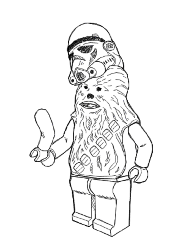 star wars coloring pages chewbacca Cumpleaños