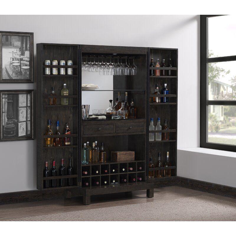 Darwin Bar Cabinet With Images Bar Cabinet Cabinet Adjustable Shelving