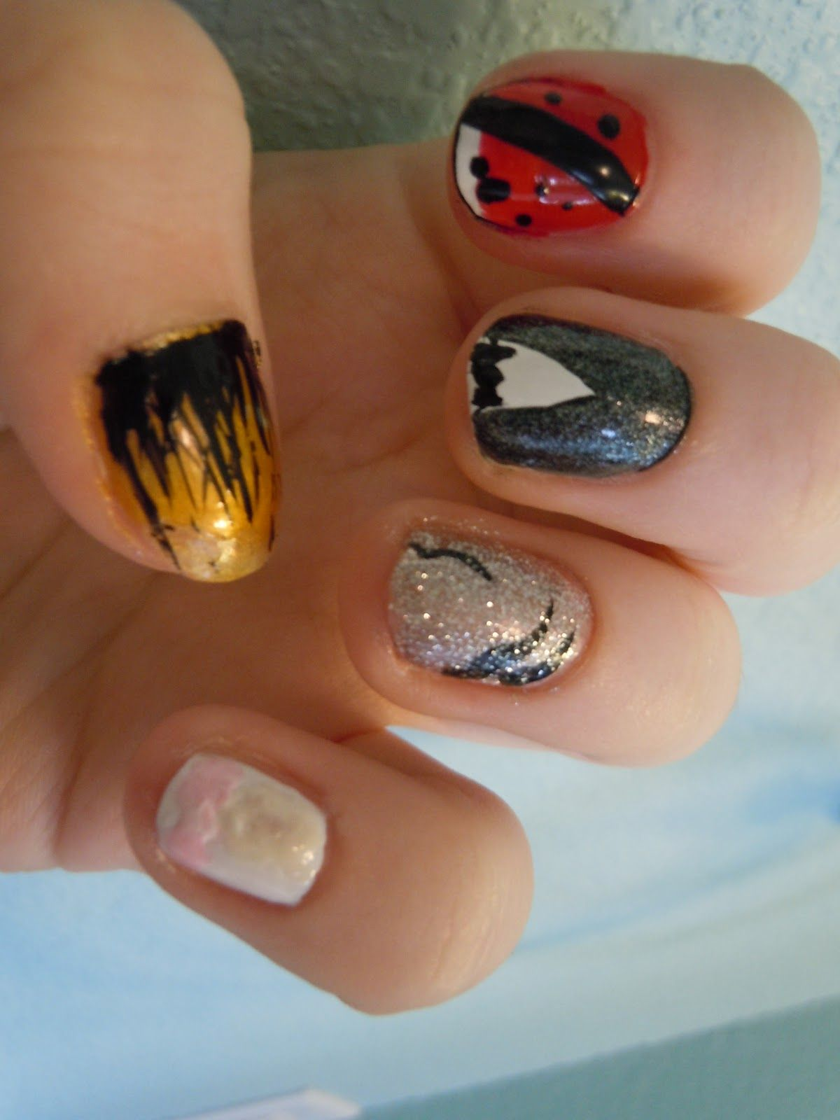 How To Use Water Marbling Nail Artwork - charming nails prices ...