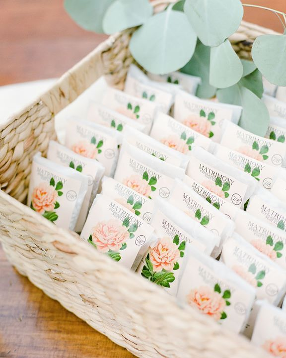 What better way to celebrate a spring wedding than with a floral favor? Guests t... What better way to celebrate a spring wedding than with a floral favor? Guests t...,