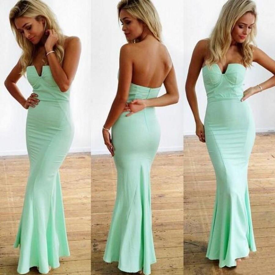 Mint prom dresssheath prom dresslong prom dress prom dress
