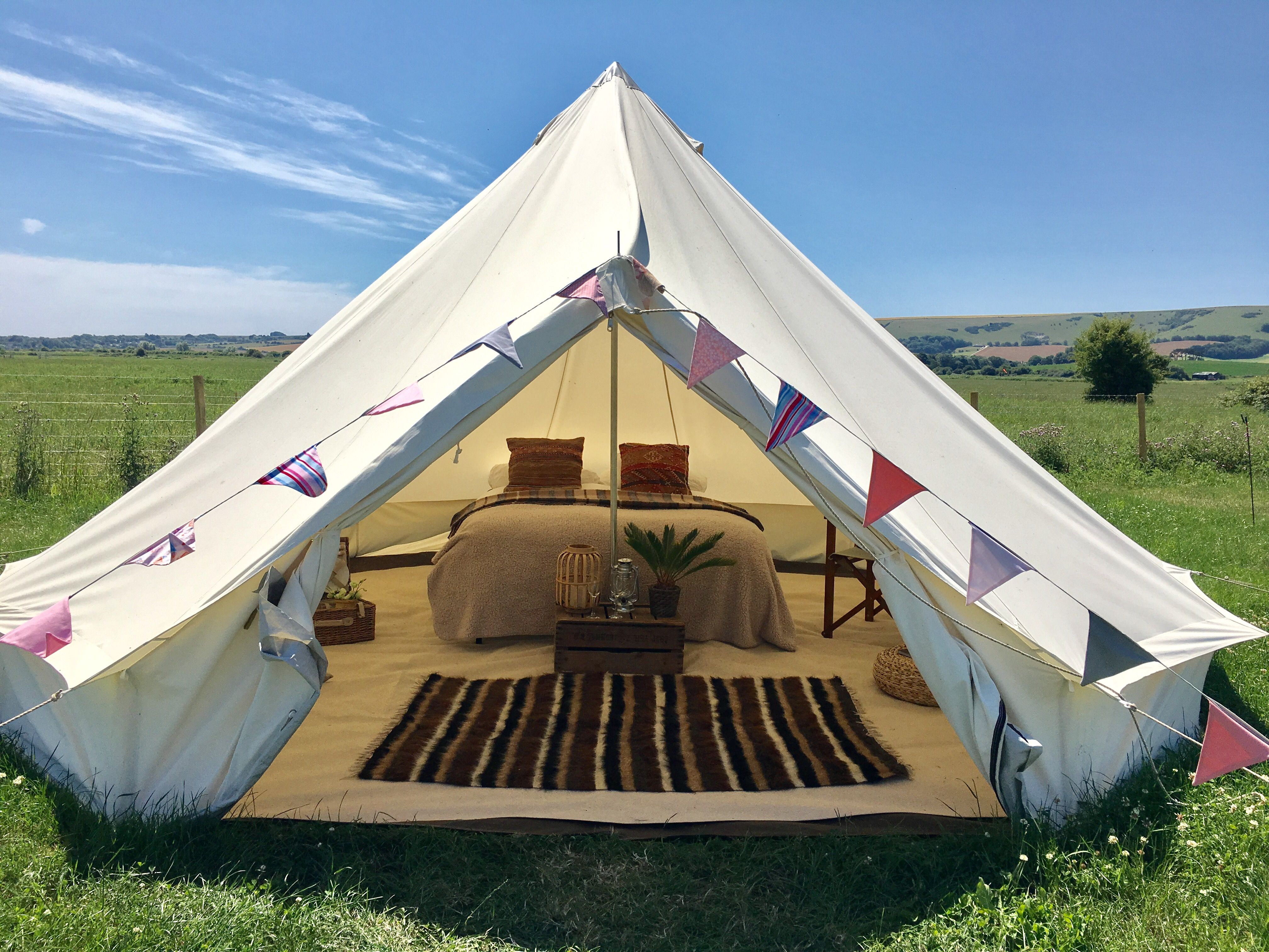 safari bell tent interior Bell Tent C&ing Tent Hire Luxury Gl&ing East Sussex & safari bell tent interior | Outdoor | Tent Bell tent camping Bell tent