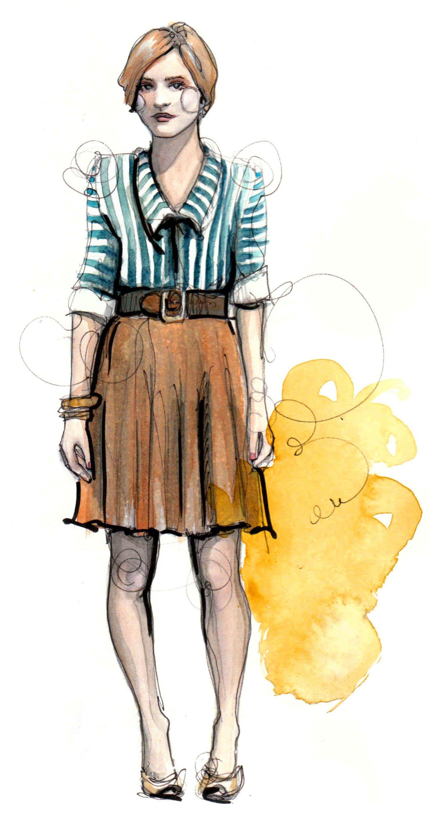 Poppytalk glorious fashion illustration from Katie Rodgers aka