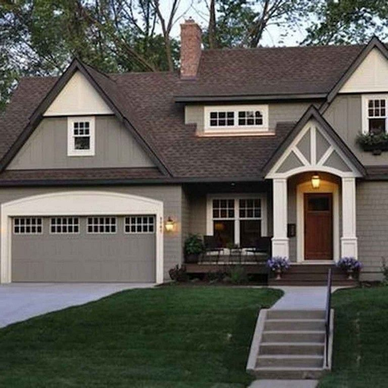 Exterior Home Colors 2019: 59+ Awesome Modern Farmhouse Exterior Design Ideas In 2019
