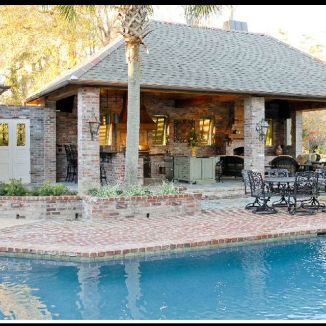 Outdoor Living Backyard Swimming Pool Pools Patios Porches