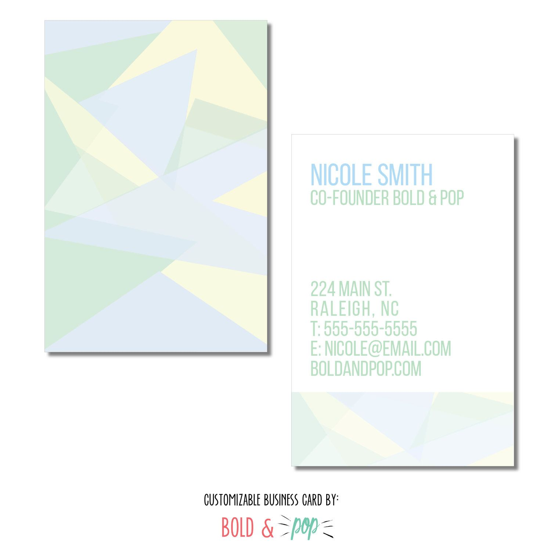 Bold Pop Thepopshop Pastel Mosaic Business Card Template Business Card Template Squarespace Website Design Stock Photos Design