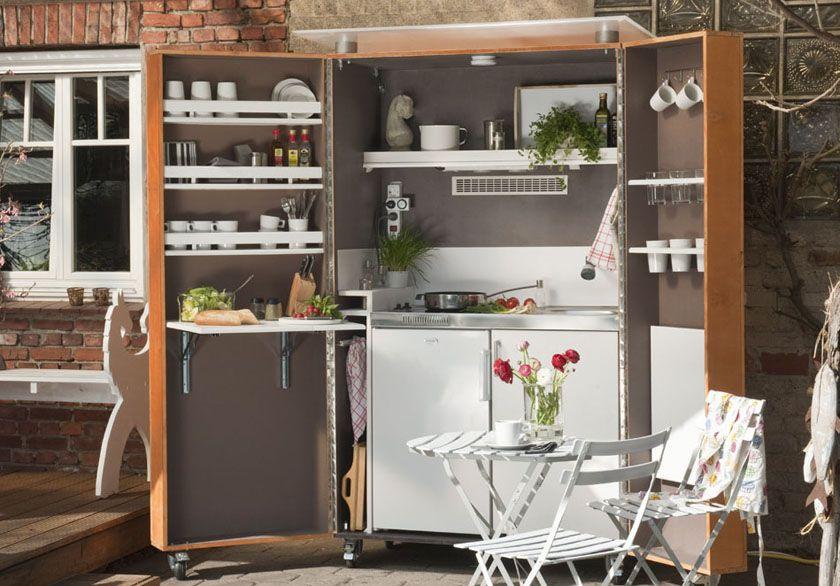 drau en kochen im sommer gartenk che zum nachbauen mit. Black Bedroom Furniture Sets. Home Design Ideas