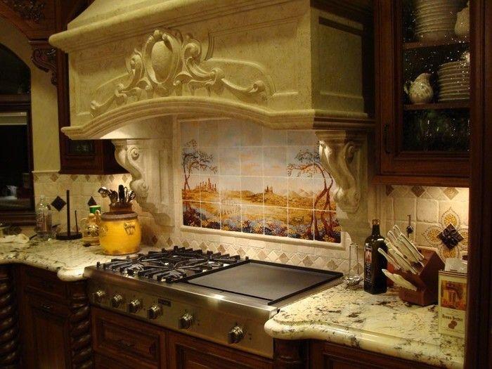 Кухонные фартуки из керамической плитки (с изображениями ...