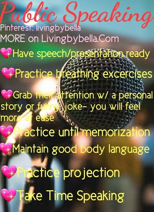 HOW TO NOT GET NERVOUS: PUBLIC SPEAKING ON LIVINGBYBELLA.COM Pinterest: livingbybella💅🏽 FOLLOW FOR