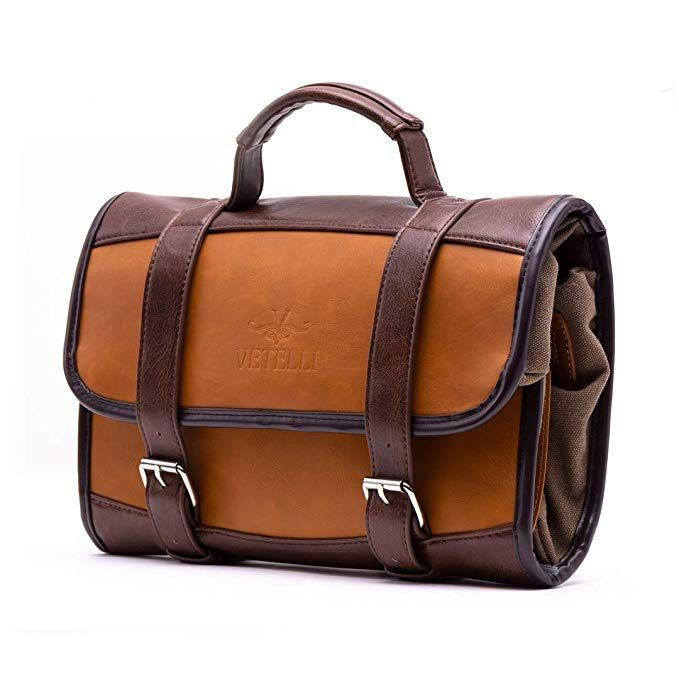 Vetelli Hanging Toiletry Bag for Men - Dopp Kit Travel Accessories Bag Great  Gift 583c4550c1