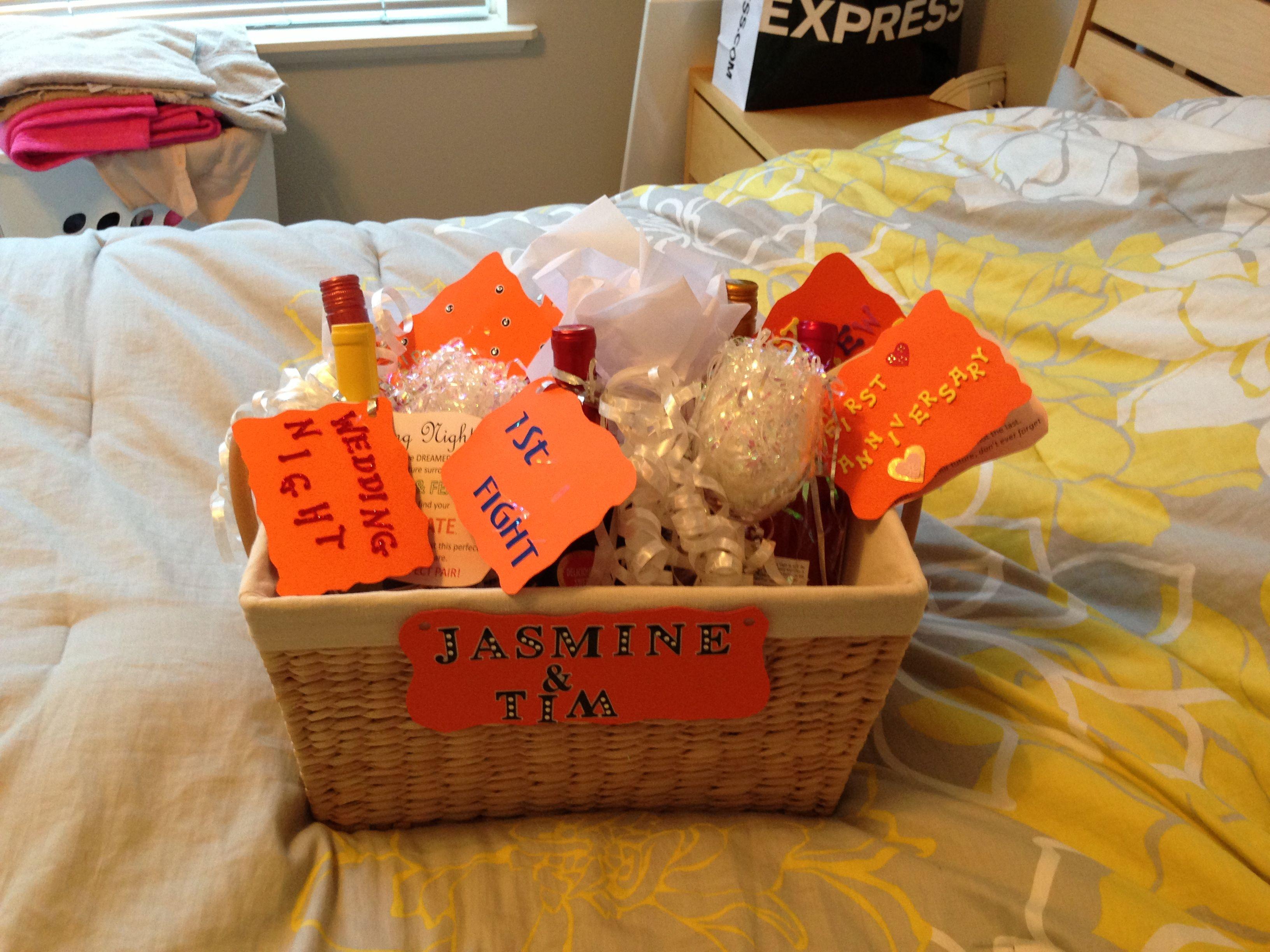 Bridal shower gift wine basket wine baskets wine