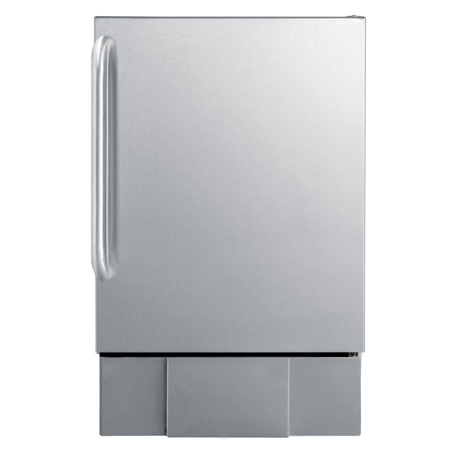 Summit Bim240s Under Counter Ice Maker Ice Maker Outdoor Kitchen Appliances Stainless Steel Cabinets