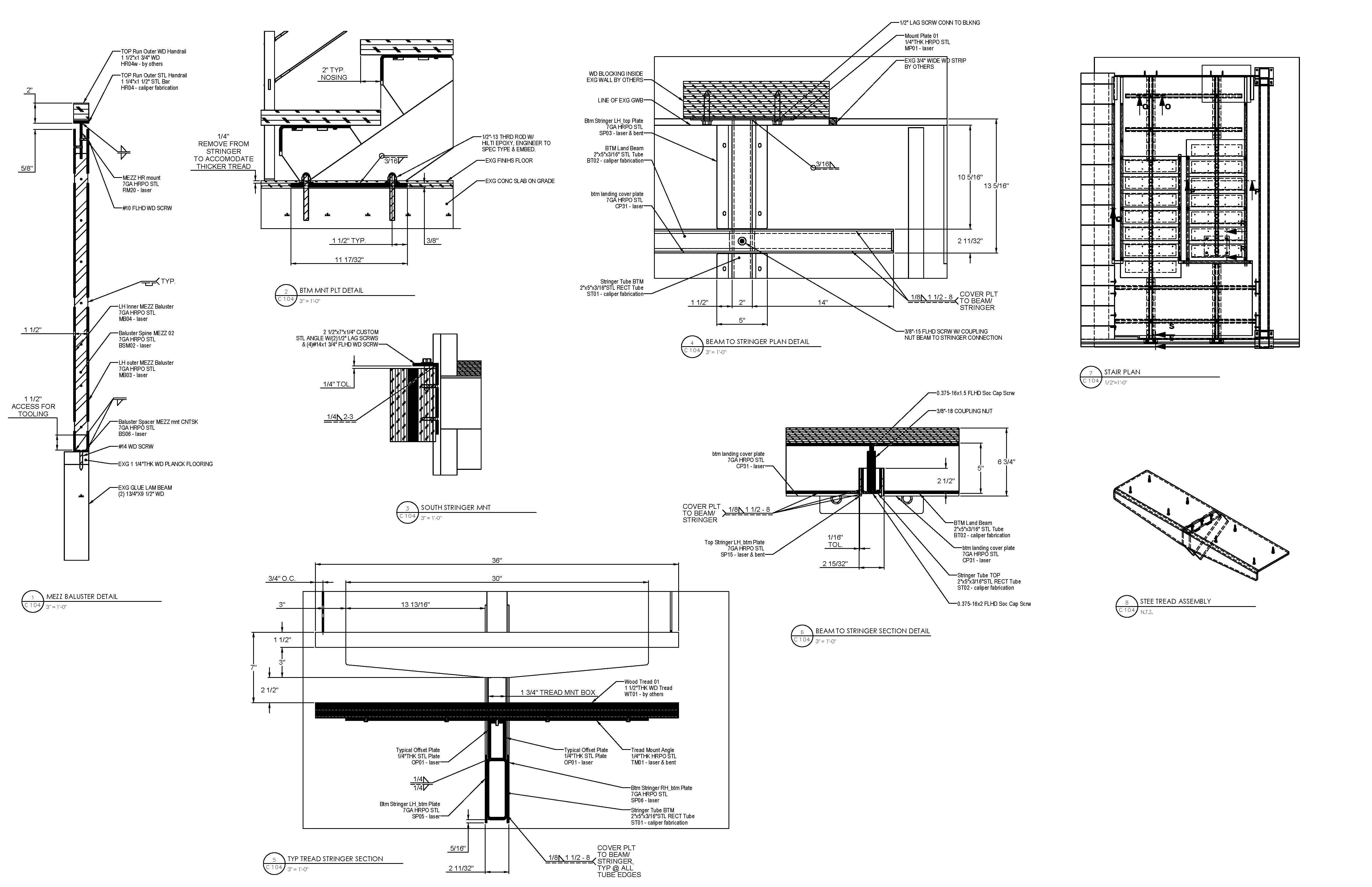 Center Stringer Stair Caliper Studio Detail Pinterest Layout Diagram For Deck Stairs