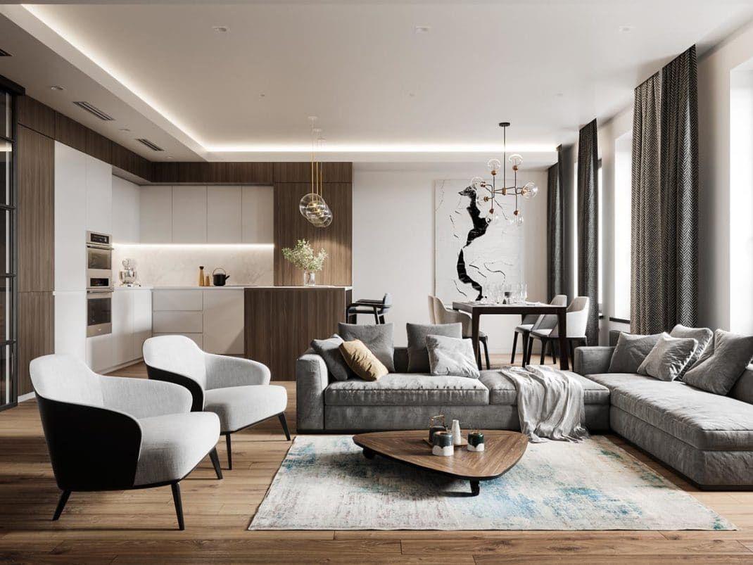 Decoration Moderne D\'un Salon | Avant Après Consultez Les ...