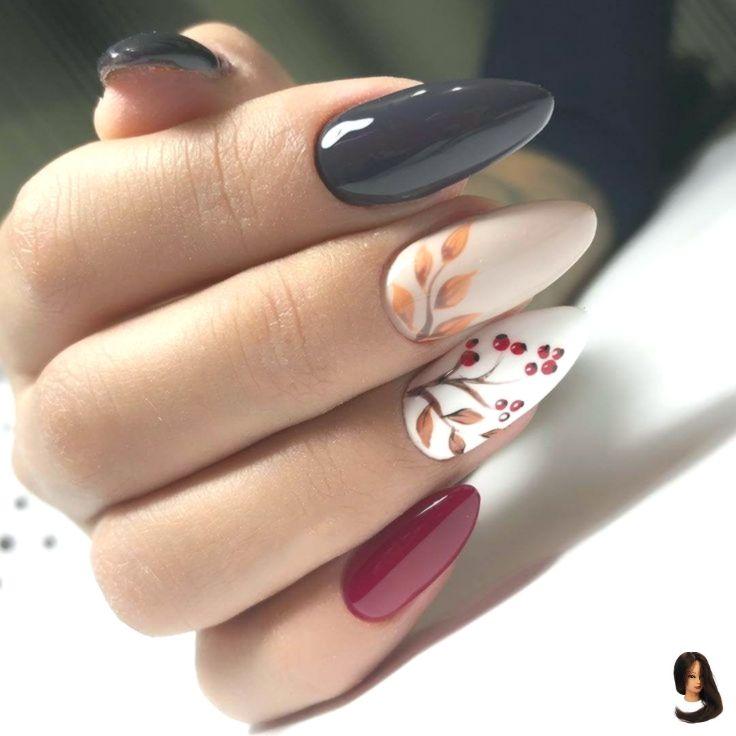 Photo of #Art #autumn Nails #Nail Nail Art # 4597 autumn nails, black shiny …