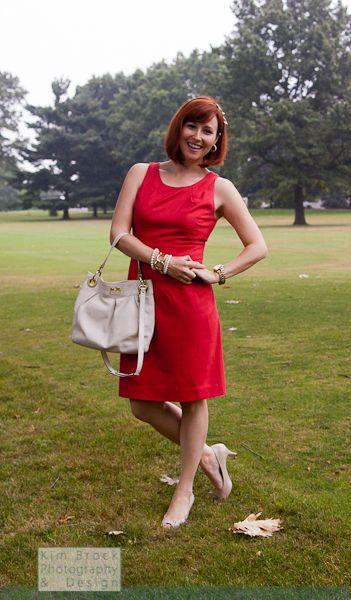 Week 1, Day 3 - #JCrew Dress, #Coach bag, #StellaandDot earrings.