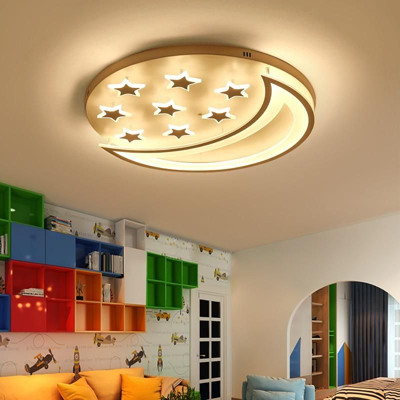 star moon led ceiling light kids room
