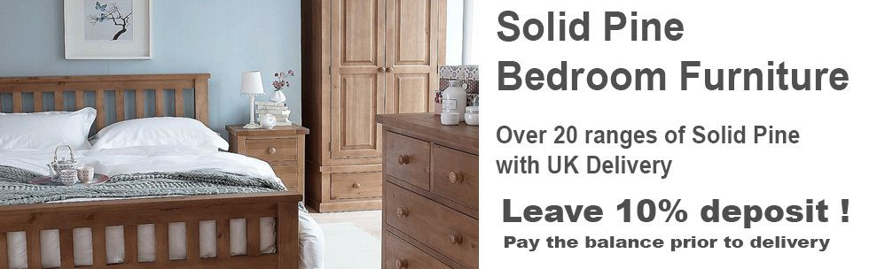The Bedroom Place sells pine bedroom furniture with free UK delivery