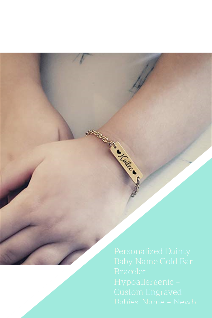 Engraved Gold Filled Personalized Children/'s Infant Baby ID Bracelet