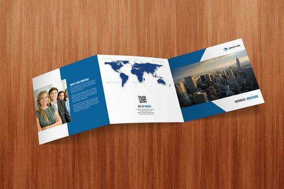 Square Tri- Fold Business Brochure by DGTouch on Creative Market - tri fold business brochure