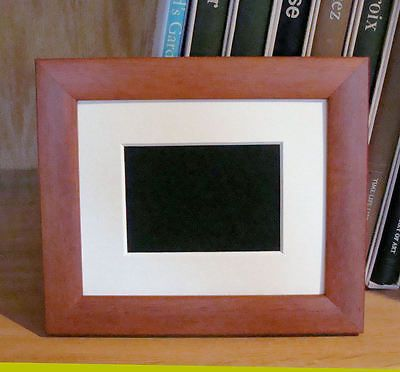 Aceo Minature Picture Frame For 2 5 X 3 5 Aged Cherry Color Mat Uv Glass Back Frame Picture Frames Card Supplies