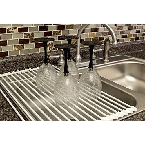 Lifeqvc Over The Sink Dish Drying Rack Foldable Small Mat