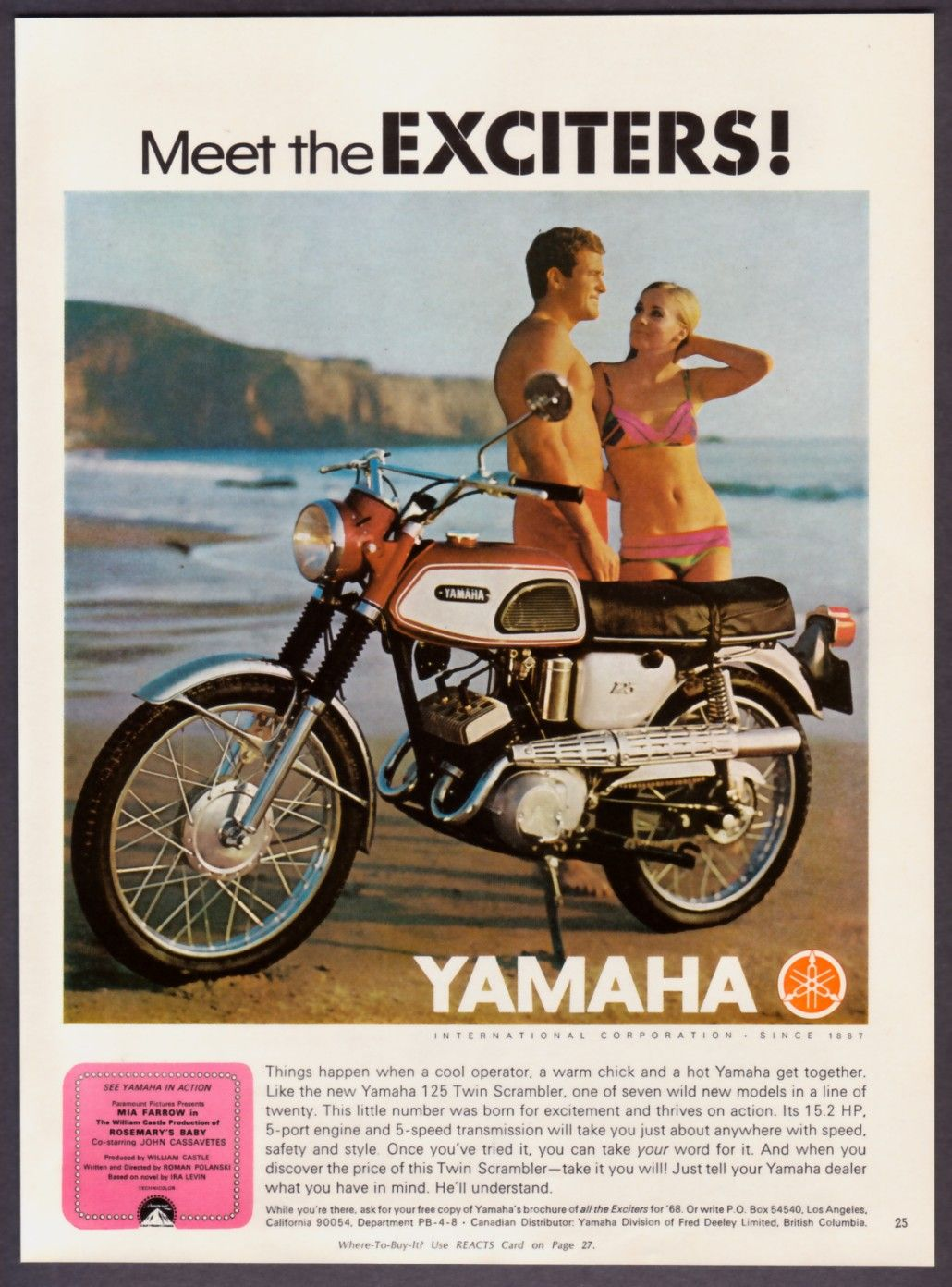 Yamaha Old School Magazine Ads Pinterest Scrambler The Above Picture Shows Honda Cb100 Pictorial Diagram It