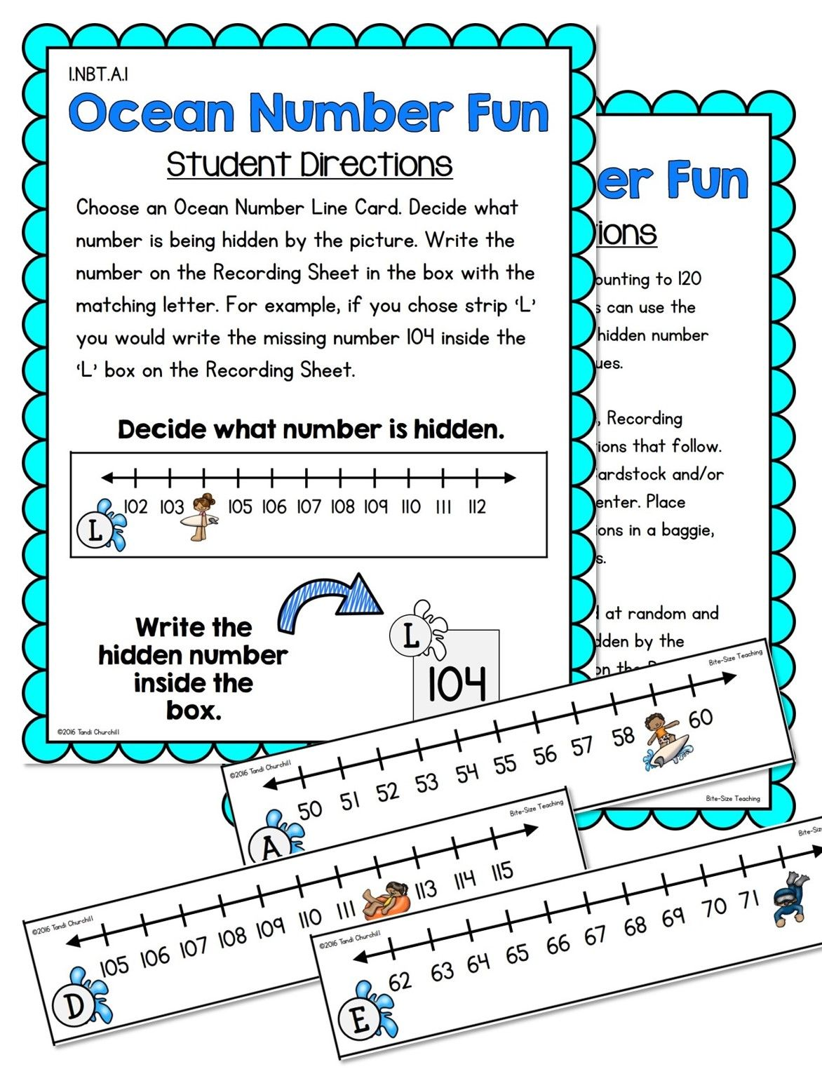 First Grade Number Sense Unit