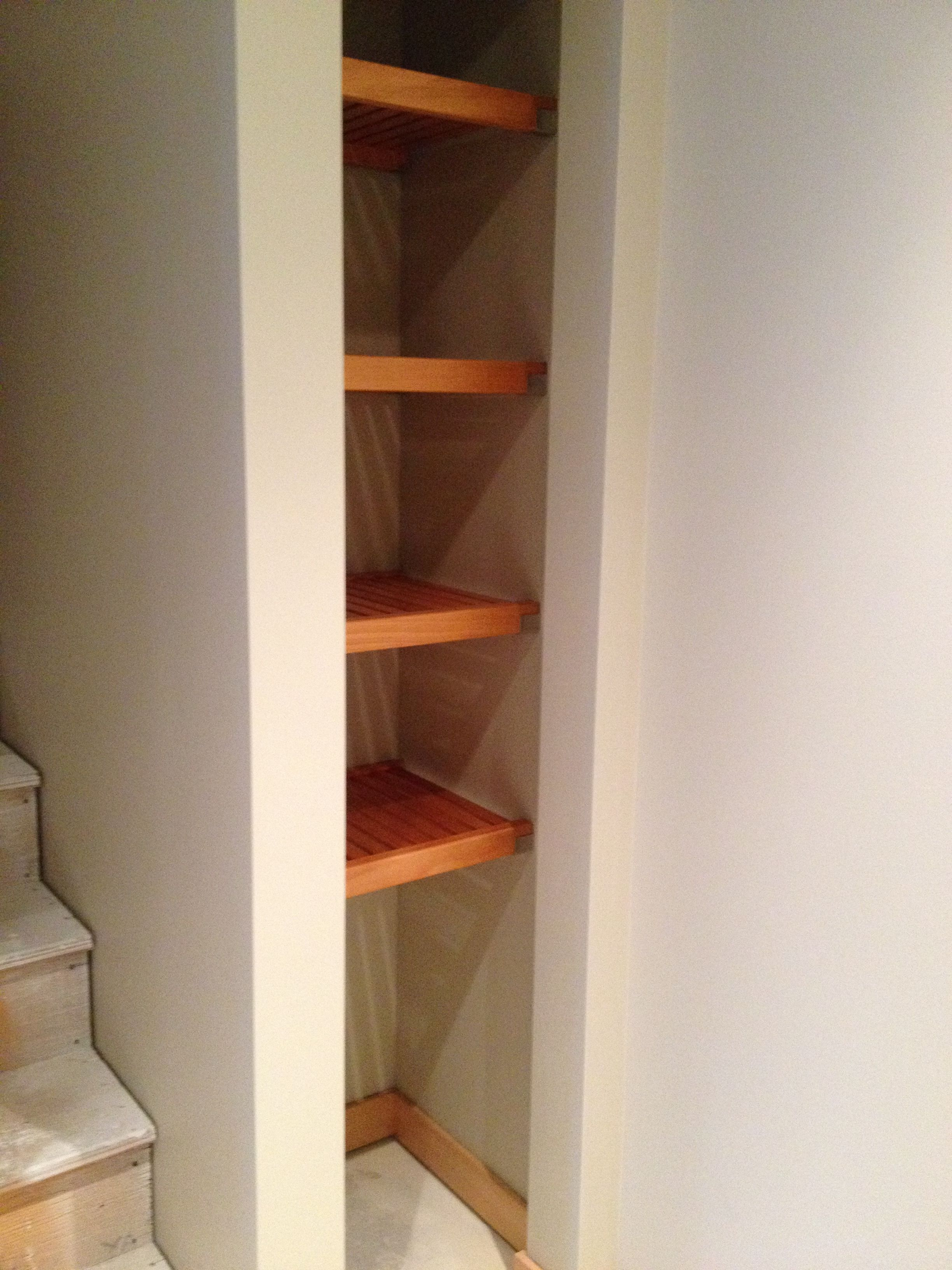 Make the most of your small spaces with some Honey Maple shelving, perfect for Linens and Pantries