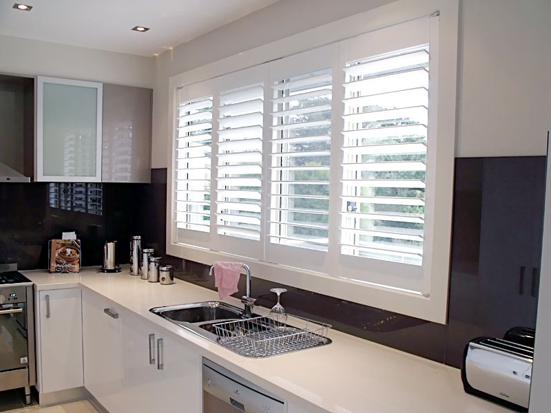 when you shop shutters for your kitchen plantation shutter is a popular choice