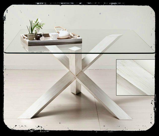 Mesa cuadrada deco mesas de comedor mesa comedor for Mesas cuadradas para comedor