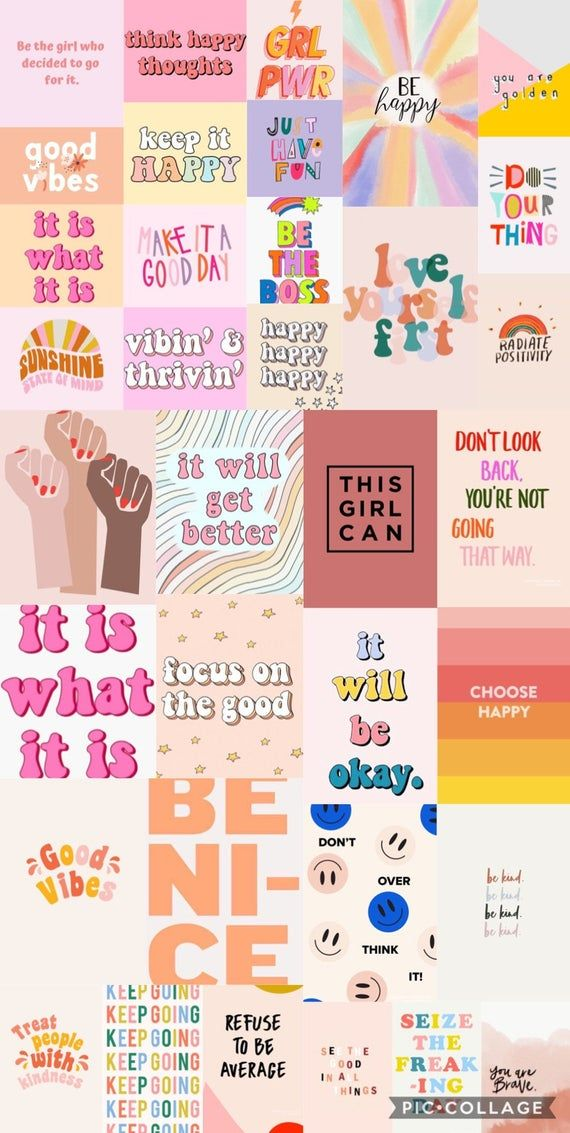VSCO Quote Prints - Digital Wall Collage Photos(35pc)• Tezza