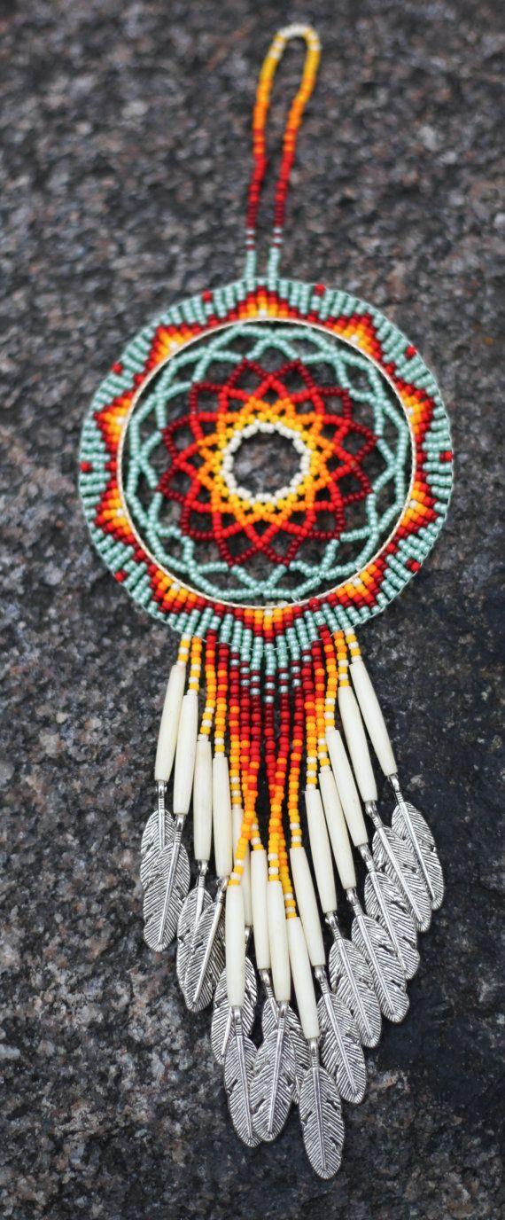 Sioux Indian Dream Catchers Native American Oglala Lakota Handmade Beaded Fringed 24