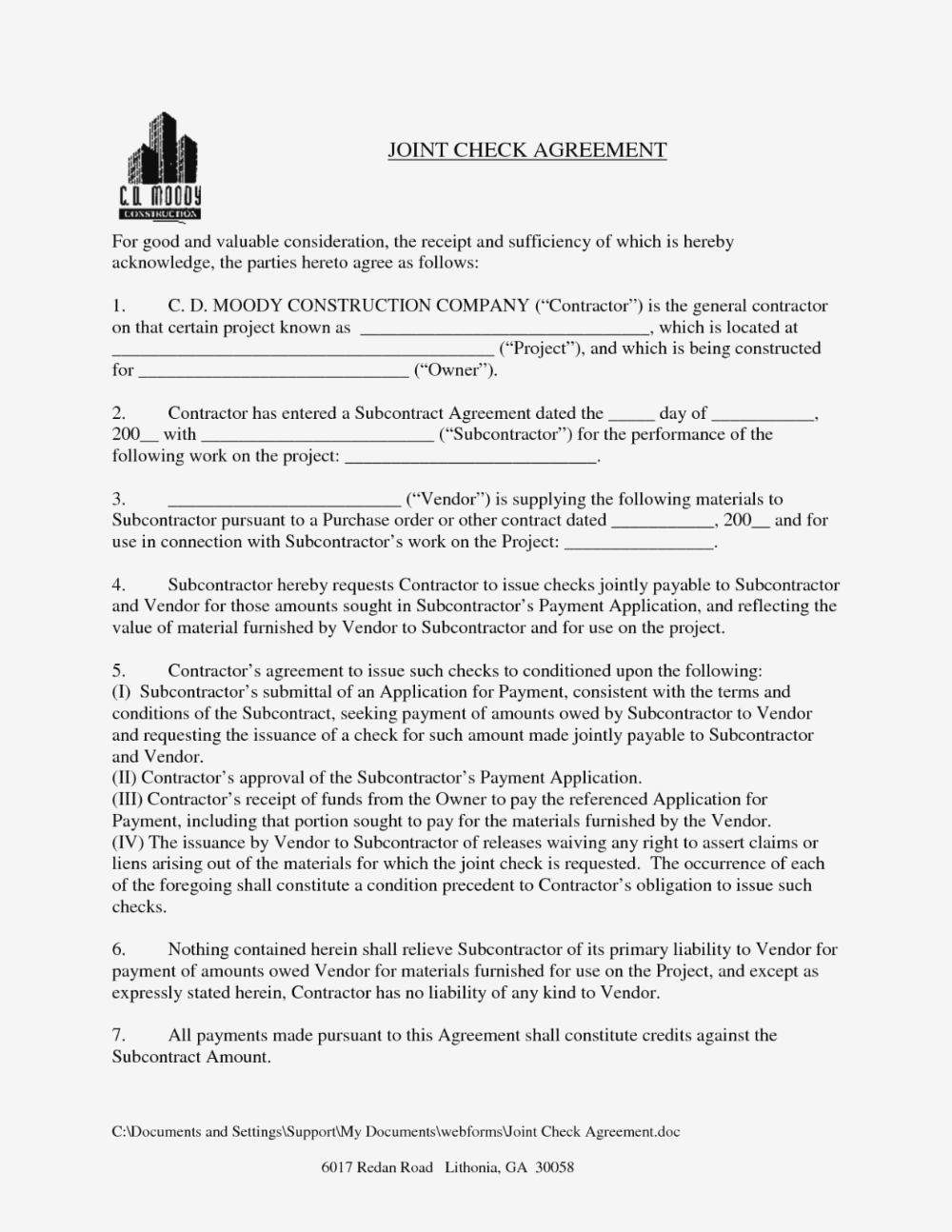 Best Photos Of Joint Agreement Forms Sample Joint Venture In Joint Check Agreement Template 10 Professional Templates Ideas Joint Joint Venture Agreement