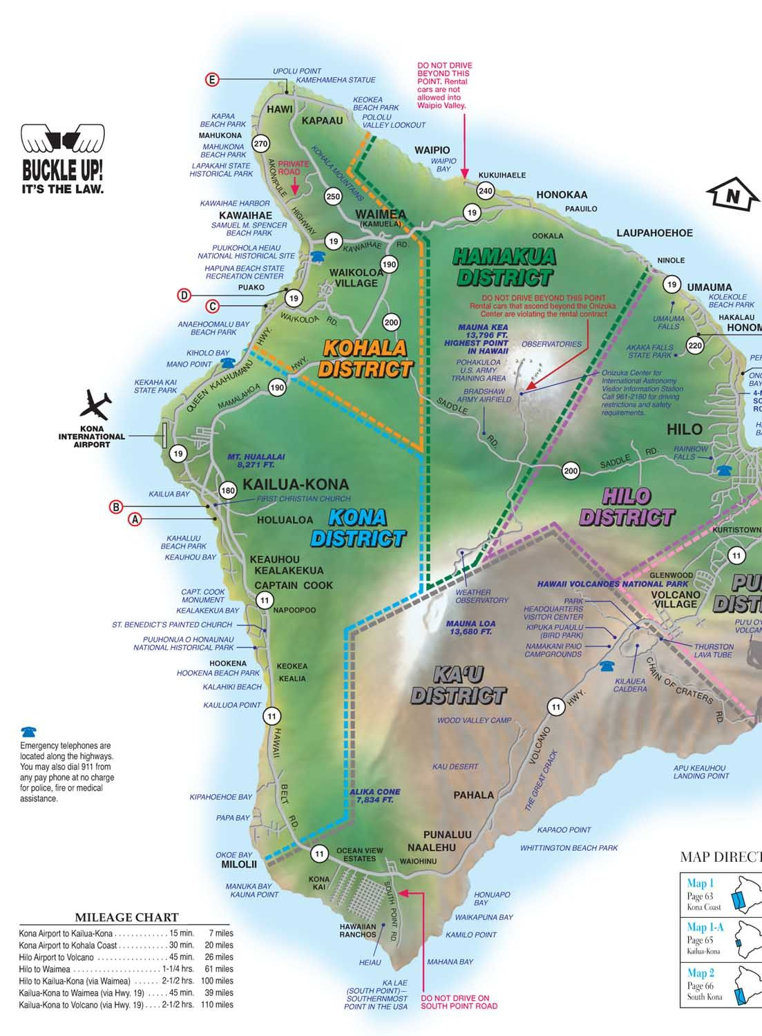 hawaii drive guide  interactive maps of the big island  hawaii  - hawaii drive guide  interactive maps of the big island