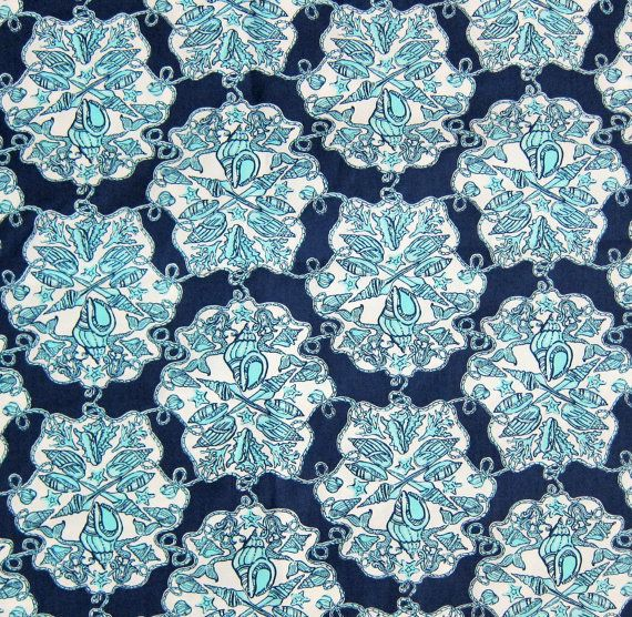 Lilly Pulitzer Fabric HEY SAILOR 18x18 or 18x9  Nautical
