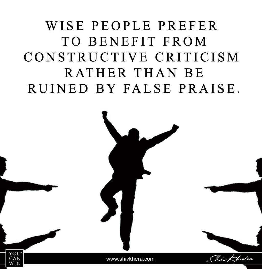 Shiv Khera on Criticism quotes, Constructive criticism
