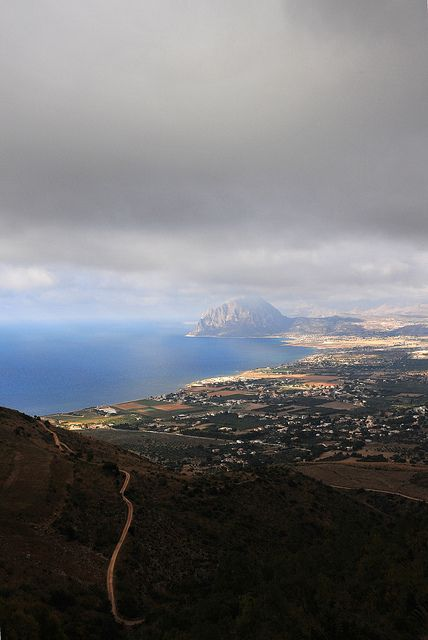 View From Erice - Sicily.