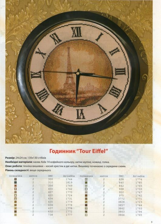 Eiffel Tower Clock 1/3